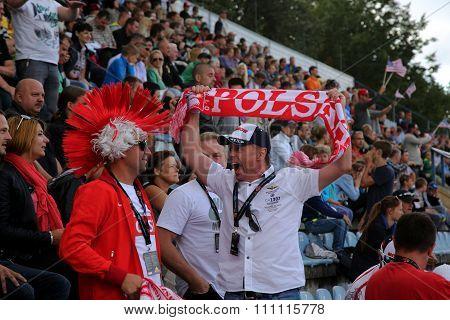 Emotional Fans From Poland On Tribune