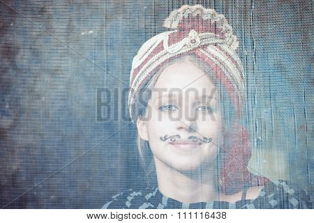 The Young Actress In The Role Of An Indian Bride Closeup