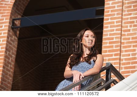 Confident Female Standing Outdoors