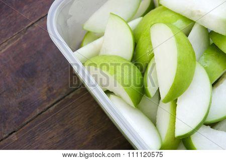 Fruit in plastic box