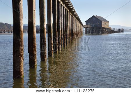 Piers End on Tillamook Bay in Garibaldi, Oregon
