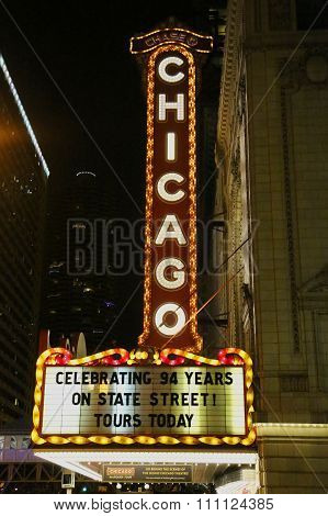 Famous Chicago sign at State Street.