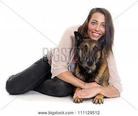Woman And Malinois