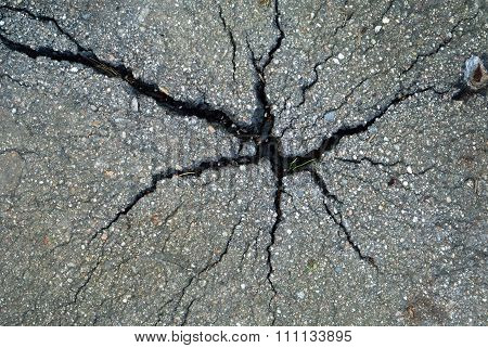 Asphalt Pavement With Cracks