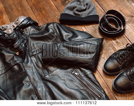 Winter Set Of Men's Casual Clothing