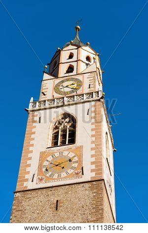 Bell Tower Of The Cathedral Of Merano - Italy
