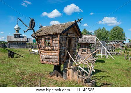 Wooden Cottage Baba Yaga On The Playground