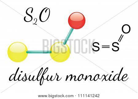 S2O disulfur monoxide molecule