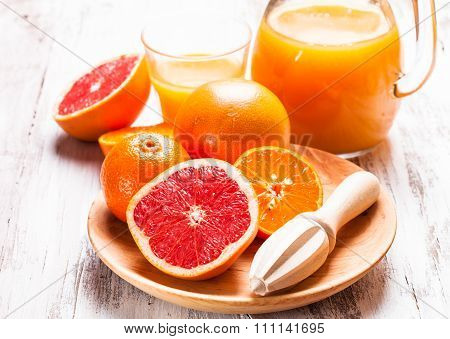 The citrus juice