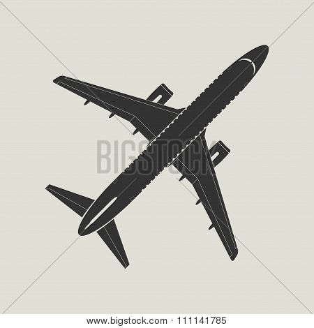 Aircraft Silhouette. Top View