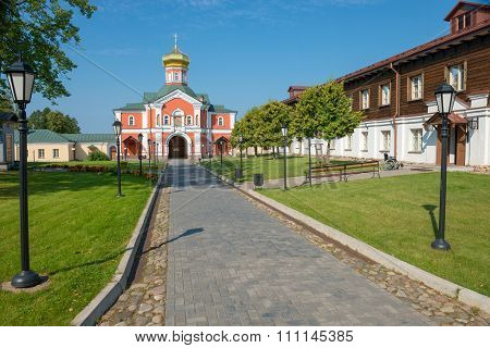 The Valdai Iver Svyatoozersky Virgin Monastery. Gate Church Of St Philip, Metropolitan Of Moscow And