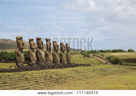 Ahu Akivi on Easter Island