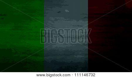 Grunge messy flag Italy