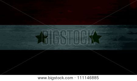 Grunge messy flag Syria