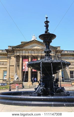 Fountain and Art Gallery, Liverpool.