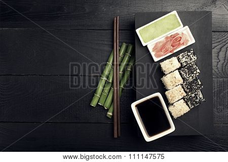 Sushi Roll With Fish