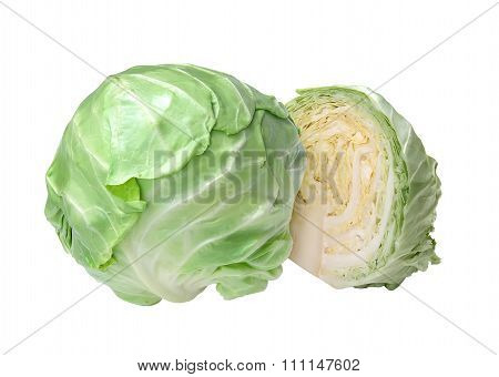 Fresh Tasty Cabbage Isolated On White