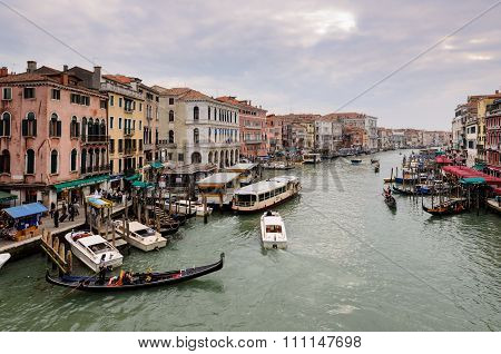 Grand Canal From Rialto