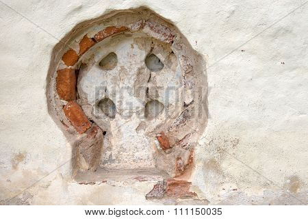 Details Of Architecture Of Church Of Clement, Pope Of Rome In Veliky Novgorod