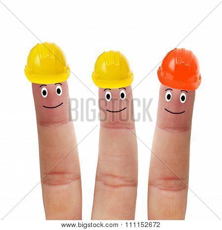 Fingers In Helmet