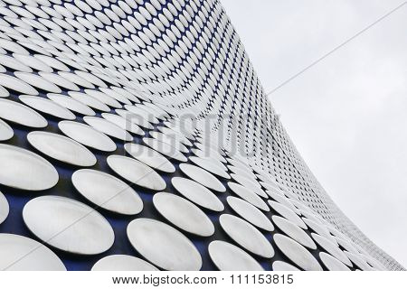 BIRMINGHAM, UK - DECEMBER 03: Low angle cropped shot of Selfridges building. The department store is part of the Bullring shopping centre complex. December 03, 2015 in Birmingham.