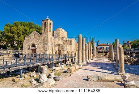 Panagia Chrysopolitissa Basilica In Paphos - Cyprus