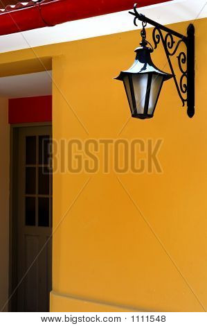 Doorway With A  Lantern