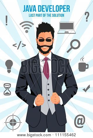 Java Developer Search Suit Design Concept