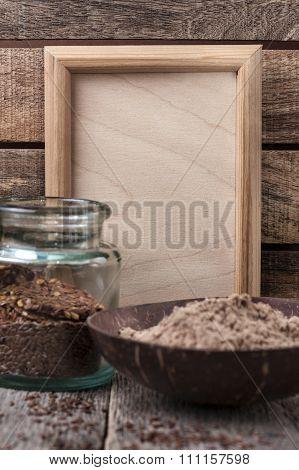 Flax Flour In A Bowl