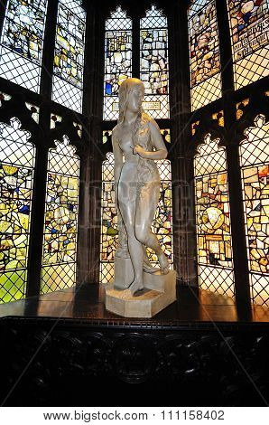Lady Godiva statue in St Marys Hall.