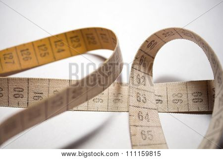 Measuring Tape. Orange Color