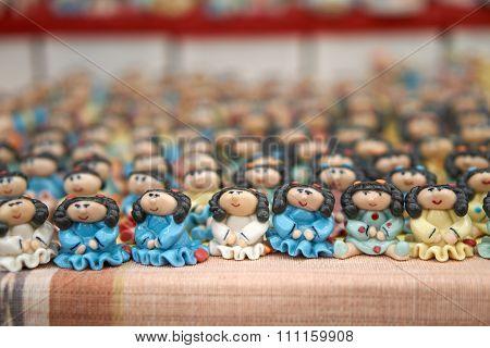 Mass Of Girl Doll Ceramic