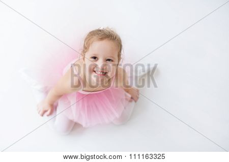 Little Ballerina In Pink Tutu