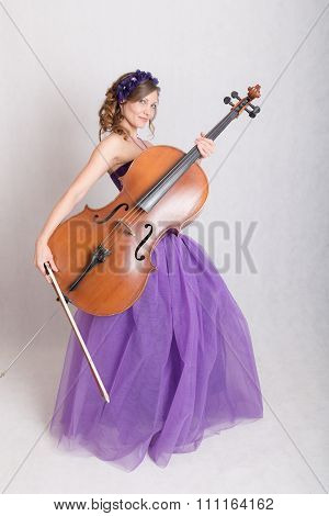 Slim Girl With Big Instrument