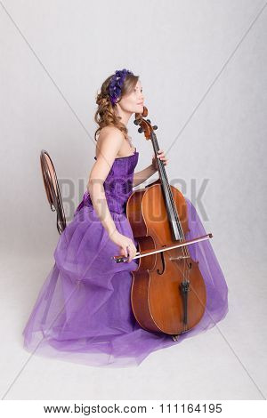 Girl Playing The Cello