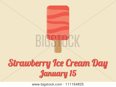 Poster For Strawberry Ice Cream Day (january 15)
