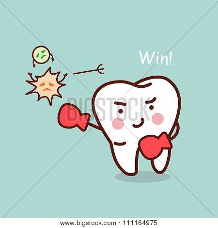 Health Cartoon Tooth Boxing
