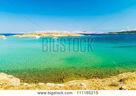The Pristine Coastline Of The Island Of Rab.