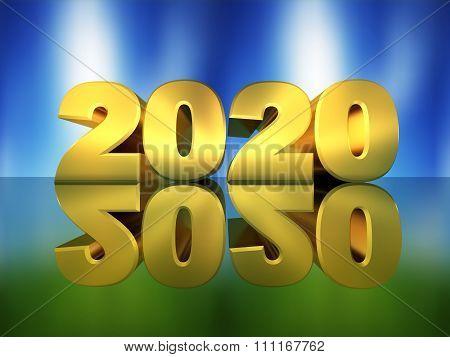Inscription 2020 In 3D