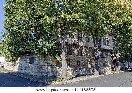 Razgrad town, street and house. Old house in revival quarter Varosha