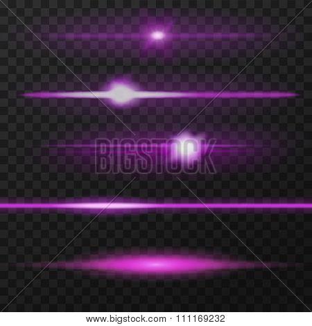 Purple lens flares