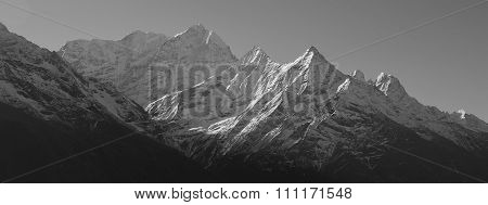 Mt Kusum Kanguru And Other High Mountains In The Everest Region