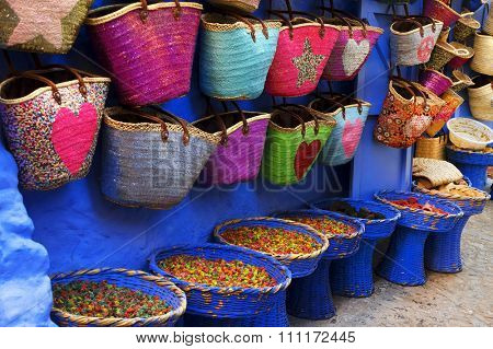 Market in Chefchaouen, Morocco, Africa