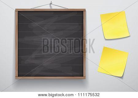 Mock Up For Sketch Chalkboard On Wall V1