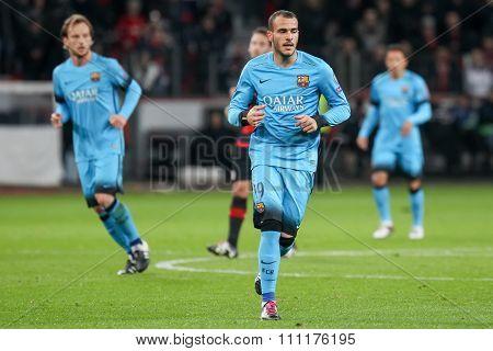 Ssndro Ramirez During The Uefa Champions League Game Between Bayer 04 Leverkusen Vs Barcelona At Bay
