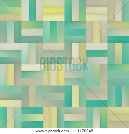 Vector Seamless Gradient Mesh Square Blocks Pavement In Shades Of Turquoise And Yellow