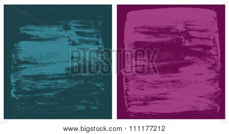 vector dark cyan and pink grunge textures