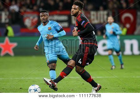 Jonathan Tah During The Uefa Champions League Game Between Bayer 04 Leverkusen Vs Barcelona At Bayar