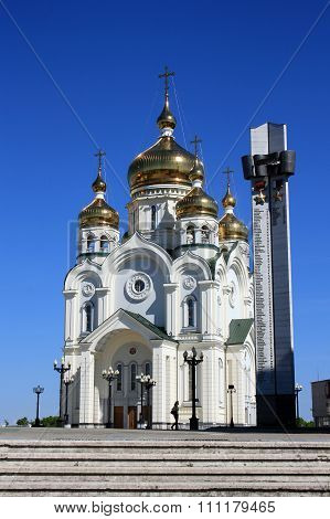Khabarovsk, Russia. The Transfiguration Cathedral