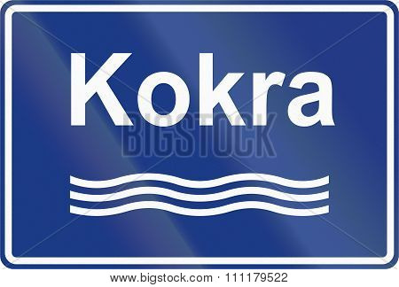 Slovenian Road Sign - River Sign With Name